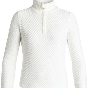 ROXY RX X COURREGES WOOL BLEND WHITE SWEATER MED